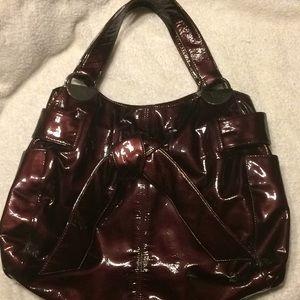 Kooba 'Elisha' Bag In Merlot Patent Leather EUC